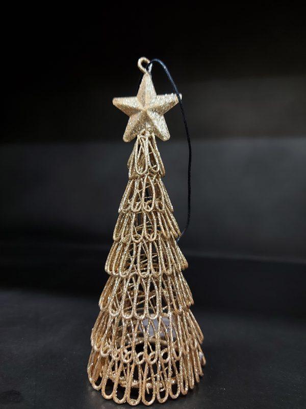 Gouden Kerstboompje Met Ster