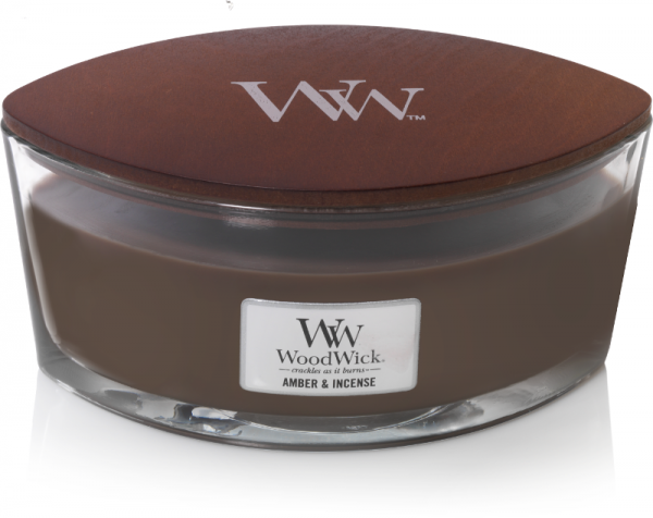 WoodWick Candle Amber & Incense Ellipse Candle