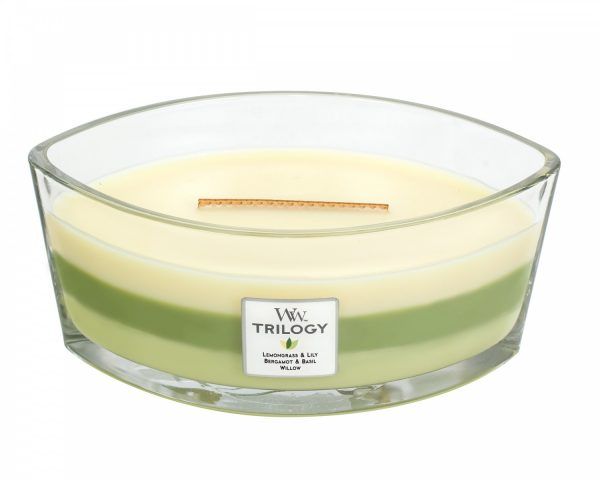 WoodWick Trilogy Garden Oasis Ellipse Candle