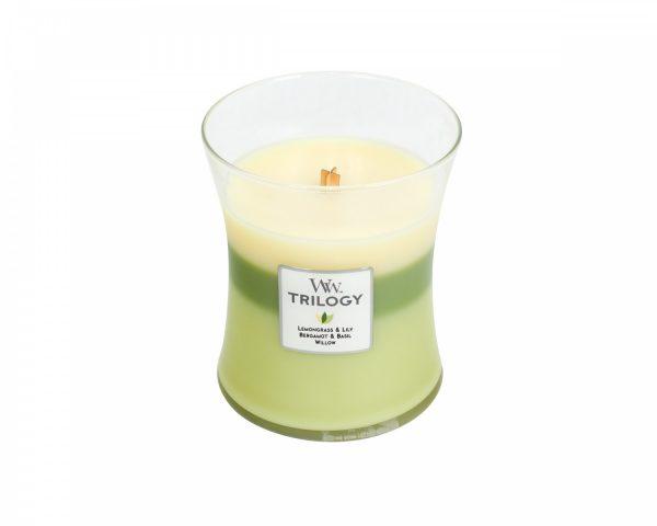 WoodWick Trilogy Garden Oasis Medium Candle