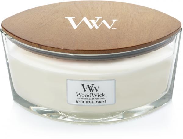WoodWick White Tea & Jasmine Ellipse Candle
