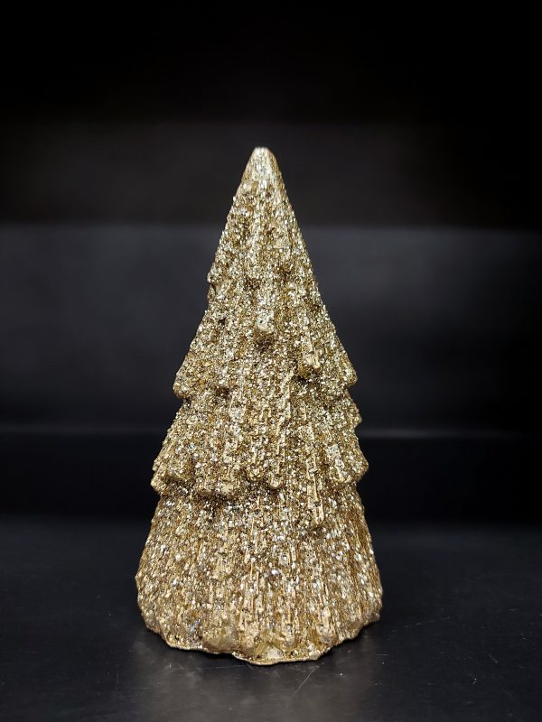 J-Line Beeldje Kerstboom Goud