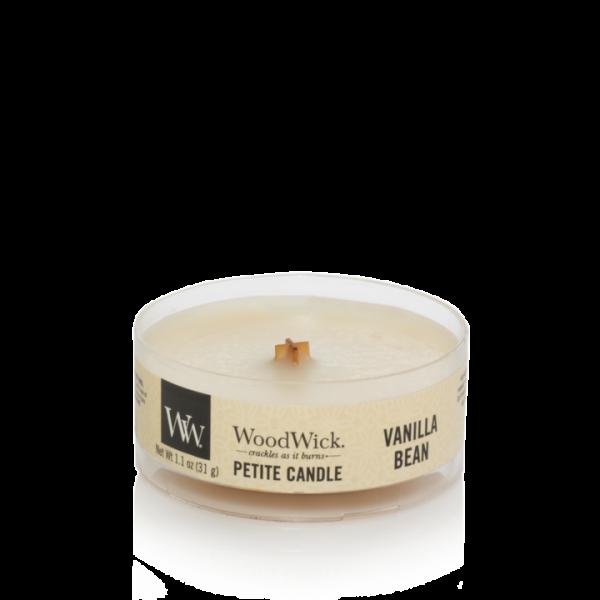 WoodWick Vanilla Bean - Petite Candle