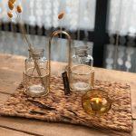 COCO maison Glazen Waxinelicht Houder - Geel