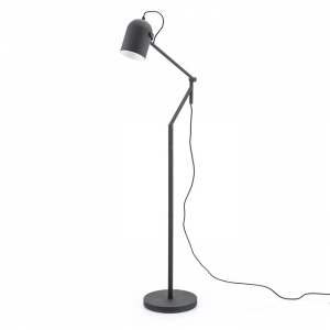 By-Boo Staande Lamp Sleek - Zwart