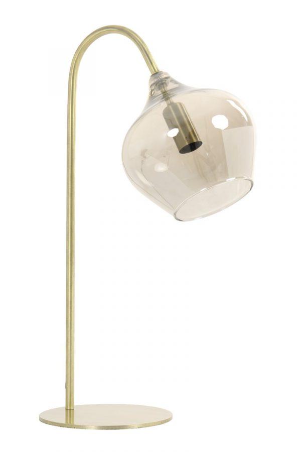 Light & Living Tafellamp Rakel Smokey Glas - Brons
