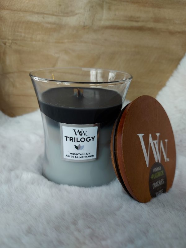 WoodWick Candle Mountain Air - Medium Candle