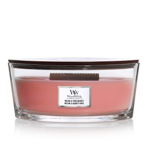 WoodWick Candle Melon & Pink Quartz - Ellipse