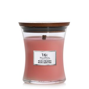 WoodWick Candle Melon & Pink Quartz - Medium