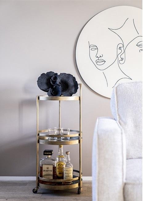 By-Boo Decoratie Agari (Nagemaakt Koraal) - Zwart