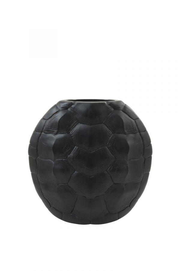 Light & Living Vaas Turtle Zwart - Large