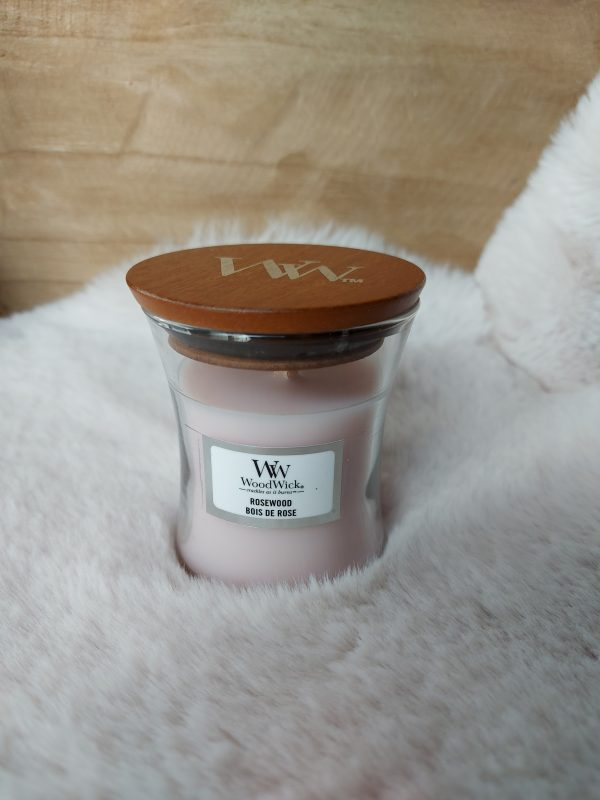 WoodWick Candle Rosewood - Mini Candle