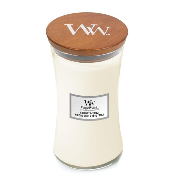 WoodWick Candle Coconut & Tonka - Large