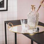 HouseVitamin Dienblad Goud Metaal Met Spiegel Blad