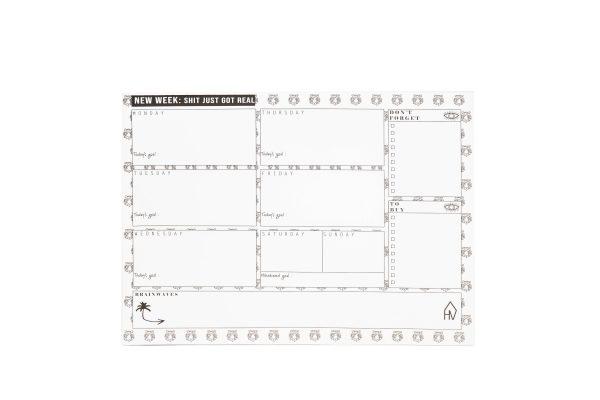 HouseVitamin Weekplanner - Tijgerhoofdjes - A4