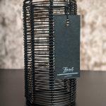 Bob Zwarte Waxinelichthouder Met Metalen Draden - Large