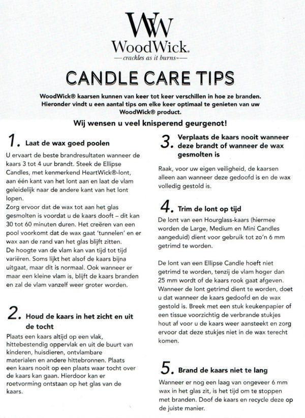WoodWick Candle Care Tips Bij73