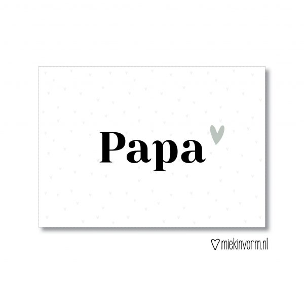MIEKinvorm Kaart - Papa