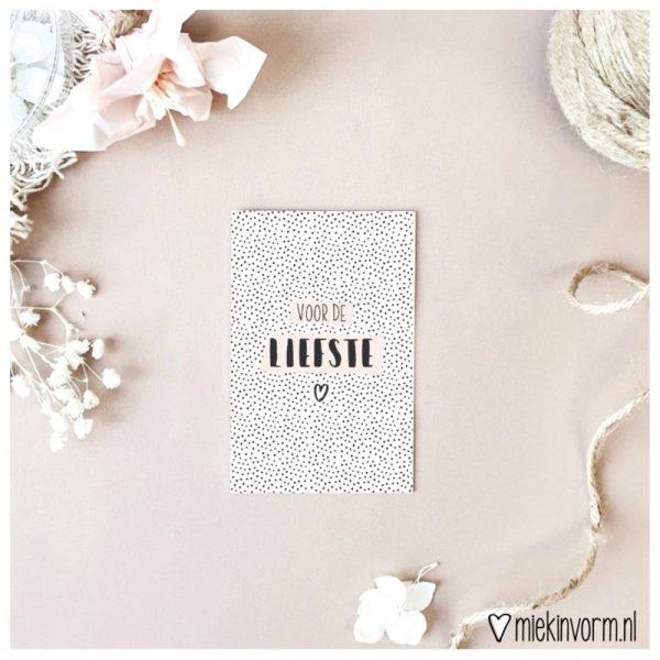 MIEKinvorm Mini Kaartje - Voor De Liefste