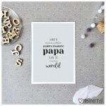 MIEKinvorm Kaart - Jij Bent De Allerliefste, Leukste & Knapste Papa Van De Heeele Wereld