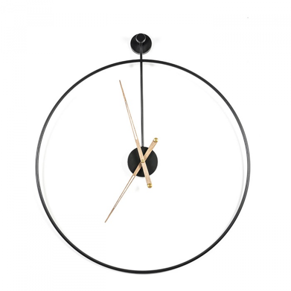 By-Boo Klok Sundial Large - Zwart