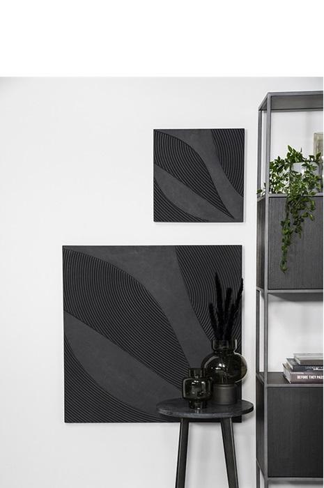 By-Boo Wanddecoratie Tazi Vierkant Large - Zwart