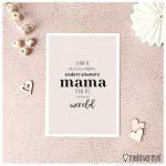 MIEKinvorm Kaart - Jij Bent De Allerliefste, Leukste & Knapste Mama Van De Heeele Wereld