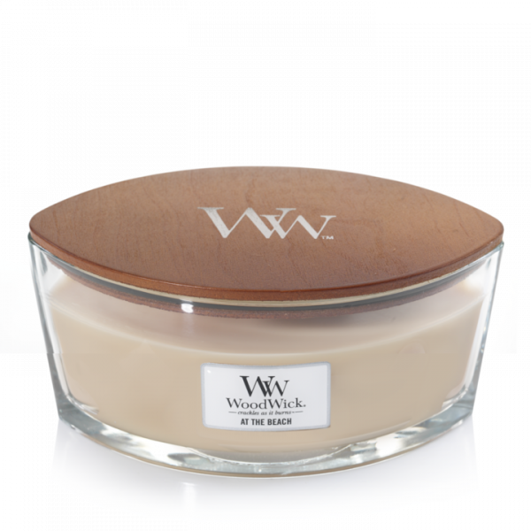 WoodWick Candle At The Beach Ellipse Candle