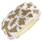 Return To Sender Beaded Bracelet Breed - Wit/Goud