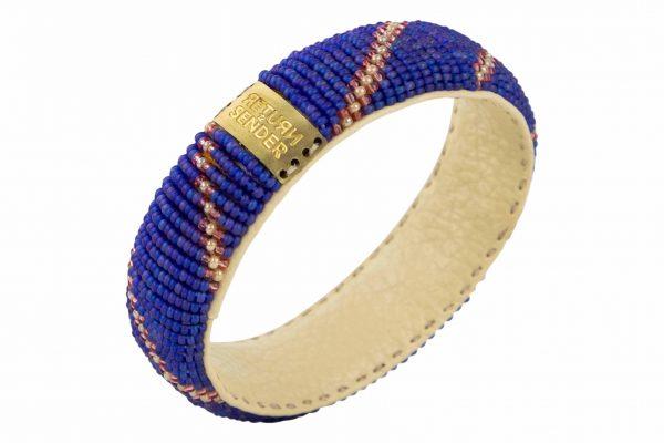 Return To Sender Beaded Bracelet Smal - Donker Blauw / Roze
