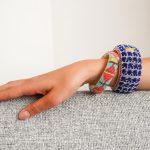 Return To Sender Beaded Bracelet Smal - Licht Blauw / Roze