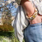 Return To Sender Beaded Bracelet Smal - Wit/Goud