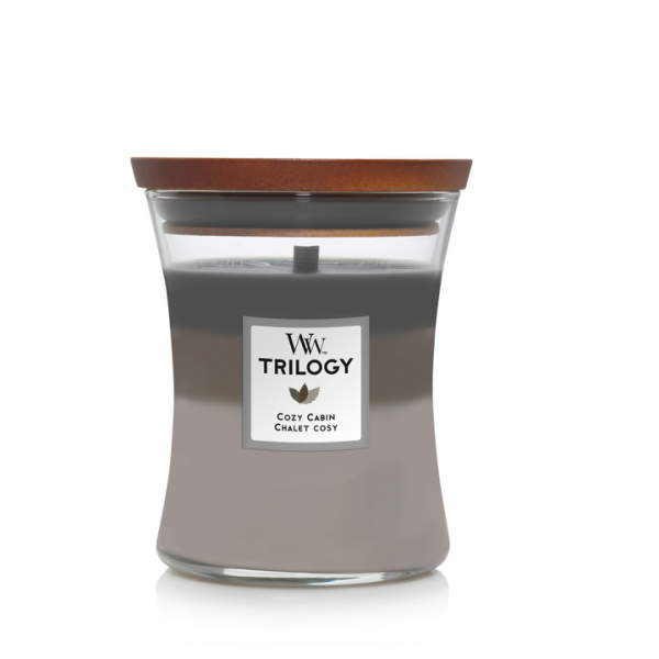 WoodWick Trilogy Cozy Cabin Medium Candle
